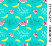 pattern with bananas ... | Shutterstock .eps vector #1050961118
