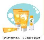 sun protection cream | Shutterstock .eps vector #1050961505