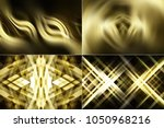set of abstract dark gold... | Shutterstock . vector #1050968216