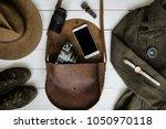 woman's traveler apparel and ...   Shutterstock . vector #1050970118