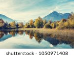 unsurpassed autumn landscape at ... | Shutterstock . vector #1050971408