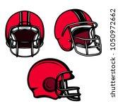 set of american football... | Shutterstock .eps vector #1050972662