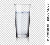 realistic transparent glass... | Shutterstock .eps vector #1050973778