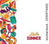 hello summer vector banner... | Shutterstock .eps vector #1050974402