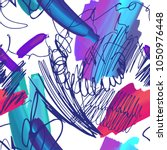hand drawn doodle texture. pen... | Shutterstock .eps vector #1050976448