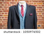 traditional english three piece ... | Shutterstock . vector #1050976502