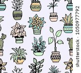 seamless pattern with different ... | Shutterstock .eps vector #1050977792