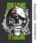vector rastaman skull | Shutterstock .eps vector #1050979946