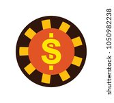 vector casino chips  casino... | Shutterstock .eps vector #1050982238