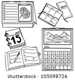 set of calendars isolated on...