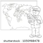 geography teacher with a... | Shutterstock .eps vector #1050988478