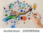 leadership and finance concept. ... | Shutterstock . vector #1050989606