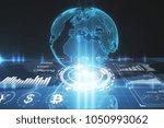 abstract digital globe... | Shutterstock . vector #1050993062