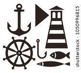 anchor  rudder  lighthouse ...   Shutterstock .eps vector #1050996815