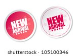 new arrival stickers | Shutterstock .eps vector #105100346