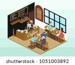isometric vector icon or info... | Shutterstock .eps vector #1051003892