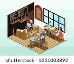 isometric vector icon or info... | Shutterstock .eps vector #1051003892