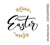 happy easter hand drawn... | Shutterstock .eps vector #1051004582