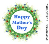 happy mothers day. name of the... | Shutterstock .eps vector #1051004852