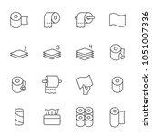 toilet paper set of vector... | Shutterstock .eps vector #1051007336