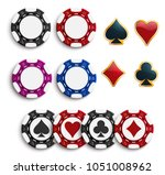 casino poker chips or gambling... | Shutterstock .eps vector #1051008962