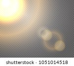 sunshine vector effect isolated ... | Shutterstock .eps vector #1051014518