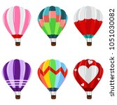 colorful hot air balloons with... | Shutterstock .eps vector #1051030082