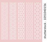 seamless line borders patterns... | Shutterstock .eps vector #1051040156
