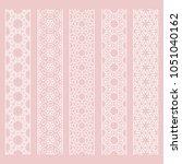 seamless line borders patterns... | Shutterstock .eps vector #1051040162