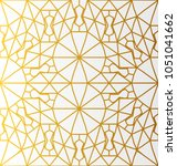 arabic pattern gold style.... | Shutterstock .eps vector #1051041662