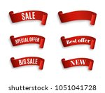 special offer vector ribbon.red ... | Shutterstock .eps vector #1051041728