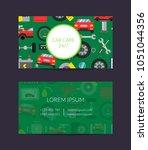 vector business card template... | Shutterstock .eps vector #1051044356