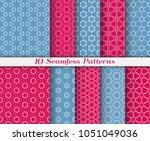 seamless pattern set in arabic... | Shutterstock .eps vector #1051049036