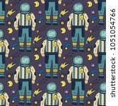 seamless vector pattern with... | Shutterstock .eps vector #1051054766
