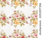 seamless floral pattern with... | Shutterstock .eps vector #1051057106