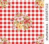 seamless floral pattern with... | Shutterstock .eps vector #1051057112