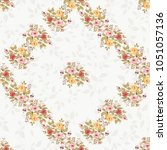 seamless floral pattern with... | Shutterstock .eps vector #1051057136