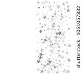 sparkling silver stars... | Shutterstock .eps vector #1051057832