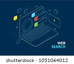 isometric search engine result... | Shutterstock . vector #1051064012