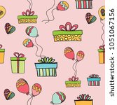 party time  vector seamless... | Shutterstock .eps vector #1051067156
