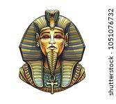 golden sarcophagus of the... | Shutterstock . vector #1051076732