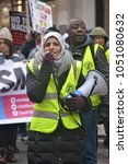 Small photo of London, UK. 17/03/18. EDITORIAL- Muslim woman activist using megaphone at the MARCH AGAINST RACISM national demonstration, London, in protest of the dramatic rise in race related attacks.