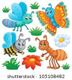 cute bugs collection 2   vector ... | Shutterstock .eps vector #105108482