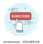 subscribe flat icon   Shutterstock .eps vector #1051089128