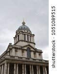 royal naval college in stadteil ... | Shutterstock . vector #1051089515