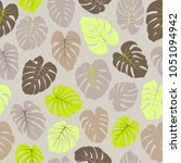 vector tropical pattern with... | Shutterstock .eps vector #1051094942