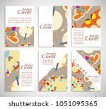 set of a4 cover  abstract...   Shutterstock .eps vector #1051095365