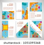 set of a4 cover  abstract...   Shutterstock .eps vector #1051095368