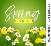 spring sale. vector... | Shutterstock .eps vector #1051105718