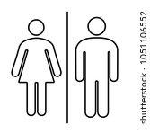 simple basic icon sign for men... | Shutterstock .eps vector #1051106552